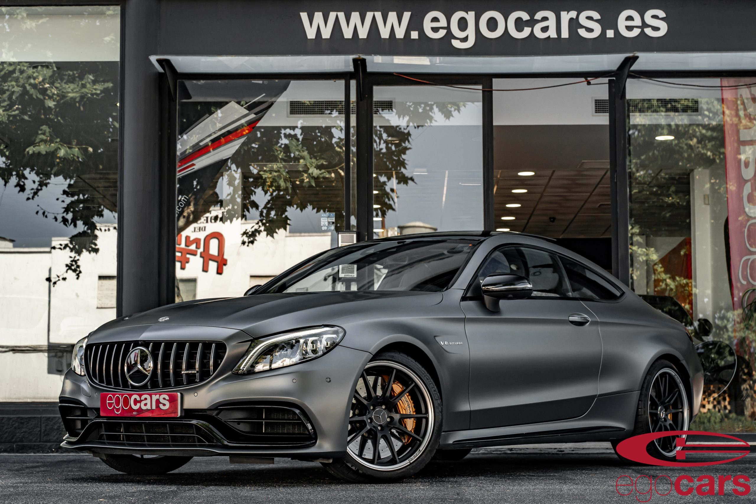 MERCEDES C63S COUPE AMG GRIS MATE EGOCARS_1