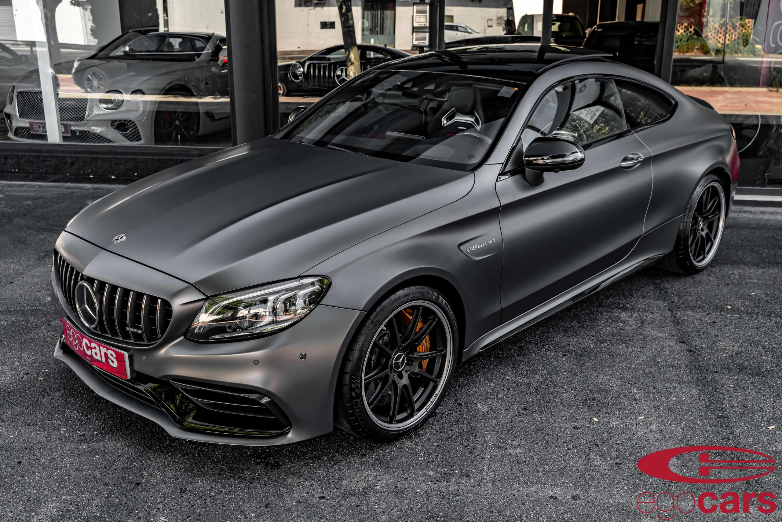 MERCEDES C63S COUPE AMG GRIS MATE EGOCARS_2