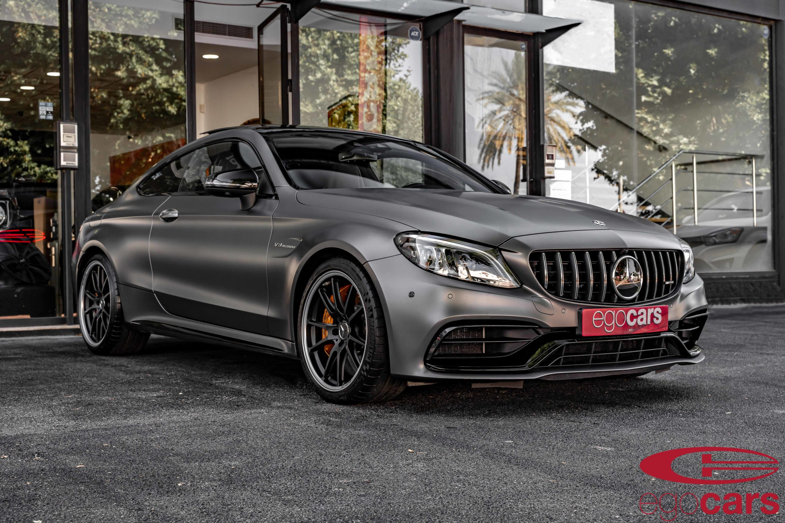 MERCEDES C63S COUPE AMG GRIS MATE EGOCARS_4